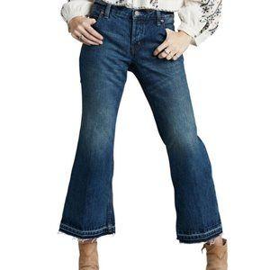 Free People Chelsea Crop Kick Flare Raw Hem Jeans